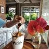 น้ำมะพร้าวปั่นหอม ราดกาแฟอร่อยลงตัว