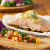 Parchment Baked Salmon with Mashed Purple Potatoes