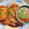 ไก่ต้มน้ำปลาพร้อมน้ำจิ้มรสเด็ด
