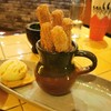 Night cap with Churros and vanilla ice-cream, yum!