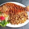 วันนี้มาแนะนำอีกหนึ่งเมนูของร้านแชมป์ แชบเวอร์ครับ เป็นปลาทับทิมลุยกระเทึยมทานคู
