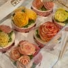 cupcake decorated by butter cream, 80.- baht/each