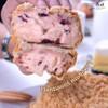 ขนมปังนมเนยสดแครนเบอรี่ครีมชีสครัมบ์