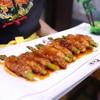 หน่อไม้ผัดเนื้อในซอสญี่ปุ่น Fried beef asparagus roll in Japanese sauce