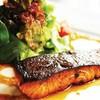 สเต็กปลาแซลมอนย่างซีอิ๊ว
