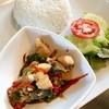 ข้าวปลาอินทรีผัดพริกไทยดำ