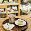 Chocolate เย็นกับ Apple earl grey cake