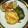 ข้าวเนื้อสับผัดกระเทียม + ไข่ครอบ + ซุป