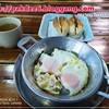 ชุดแรกไข่กระทะ และขนมปังสอดไส้ ส่วนชาร้อนบริการฟรี