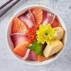 Salmon Hamachi Ikura Don