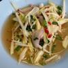 ยำมะม่วงเผ็ดเปรี้ยวหวานกินกับยำปลาดุกฟูหรือทอดปลากระพงเข้ากันสุดยอด