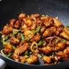 ไก่ผัดพริกหวานซอสซีอิ๊วกับซอสพริก