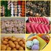 _ของทานเล่นจะมีซูชิ ขนมจีบ ทาโกะยากิ_ของหวานมีไอศครีม_แตงโม_ผลไม้ตามฤดูกาล