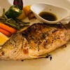 Grilled seabass with herbs, olive oil and rock salt