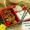 ชุดรากบัวยัดไส้หมู ไก่ ผัดเปรี้ยวหวานกับมะเขือม่วง พร้อมข้าวญี่ปุ่นและสลัด
