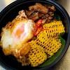 กระเพราข้าวคลุกคุโรบุตะข้าวโพดหวานไข่เป็ดกรอบ