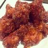 ไก่ทอดซอสเกาหลี พร้อมข้าวสวย