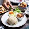 ข้าวผัดปลาเค็ม+หมูหวาน