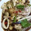 ยำหอยนางรมหมึกปูม้าปลาร้า