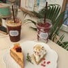 Lemon Cheese cake, Carrot cake,  เครื่องดื่ม Chuanpisamai  Americano & Before mi
