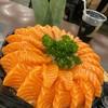 เนื้อปลาแซลม่อนแล่แบบญี่ปุ่น