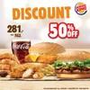 ลด 50% Ninja Burger VM16 + Fish Burger + 6 Nuggets + 3 Chicken strip เหลือ 281 บ
