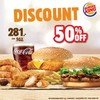 ลด 50% Ninja Burger VM16 + Fish Burger + 6 Nuggets + 3 Chicken strip เหลือ 281 บ