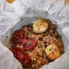 Rice Scallop Pistachio Dried Berry ข้าวอบพิสตาชิโอเบคอนและเบอรี่แห้งหอยเชลล์ย่าง