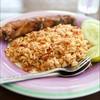 ข้าวผัดน้ำพริกกุ้งเสียบ+ปลากะพวขาวทอด##1