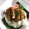 ข้าวญี่ปุ่นหน้าไก่เทอริยากิ อร่อยด้วยน้ำซอสเทอริยากิทางร้าน😊ราคาเบามาก55฿เท่านั