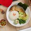 ข้าวน้ำพริกปลาทู+ผักสดลวก