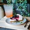 ลิ้นจี่โรส + Blueberry Cheese Cake