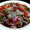 ยำหอยแครงกุ้งสด (หรือกุ้งลวก)