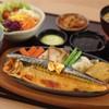 สเต๊กปลาซาบะกระทะร้อน (จาน)
