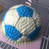 เค้กฟุตบอลสีฟ้า