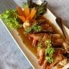 อาหารรสจัดจ้านดี ปลาเนื้ออ่อนทอดกระเทียมเหลืองทองน่าทานอร่อยมากกคะ