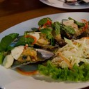 หอยแมลงภู่นิวซีแลนด์ราดน้ำจิ้มซีฟู้ด ทีเด็ดครับ