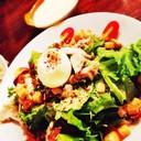 ceasar salad w/ onsen tamago