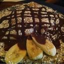 จานนี้เครปกล้วย ชอคโกแลต และไอติมวานิลลา ของลูกสาวค่ะ ไซส์เด็ก