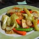 ผัดผักกุ้งสด