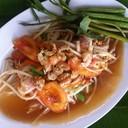 วันนี้ลองสั่ง ส้มตำไทย มาชิม รสจัดมากไม่หวานเกิน วันหน้าจะสั่งปูปลาร้ามั่ง
