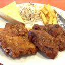 ไก่ Spicy กับสเต็กหมูพริกไทยดำ