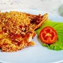ปลาทับทิมทอดกระเทียมพริกไทย