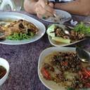 ปลาทับทิมทอดน้ำปลา ลาบหมู กบผัดกะเพรา
