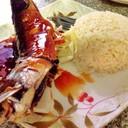 ข้าวหน้าปลาซาบะย่างซีอิ้ว เด็ดมาก!!  ได้ปลาครึ่งตัว 35 บาท คุ้มสุดๆ!!!!!