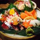 Sashimi ตกแต่งสวยงามมาก ดูเป็น Autumn สุดๆ
