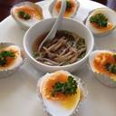 ไข่ยางมะตูมแกล้มน้ำปลา