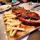 Maple Syrup Glazed Pork Rib Eye / French Fries