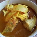 แกงเหลืองเนื้อปลากระพง (100 บาท)