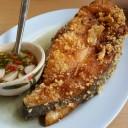 ปลาอินทรีย์ทอดเกลือ (150 บาท)